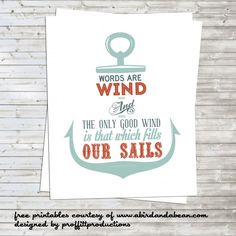 Free Printable :: Nautical Anchor with Game of Thrones Quote