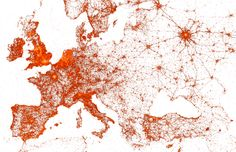 Watch the Intricate Patterns of Global Infrastructure Emerge From Geocoded Tweets