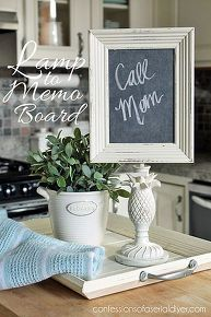 lamp to memo chalkboard, crafts, lighting, repurposing upcycling
