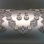 Ca. 1810  Stamped on Necklace and bracelets: Geiss A Berlin  Provenance: From a private East Coast collector