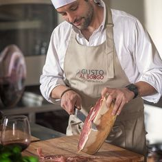 The amazing Italian prosciutto! They say you can't cut slices without eating some!