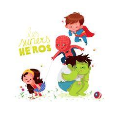 by ~ ma-y-elle en deviantART Love Illustration, Character Illustration, Graphic Design Illustration, Cartoon Kids, Cute Cartoon, Doodle Characters, Spiderman, Kid Character, Character Design References