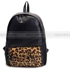 rivet women backpack leopard print shoulder bag punk school bags for teenagers girl travel backpack leather bags Item Type: Backpacks Rain Cover: Yes Backpacks Type: Softback Lining Material: Polyester Gender: Women Pattern Type: Patchwor.