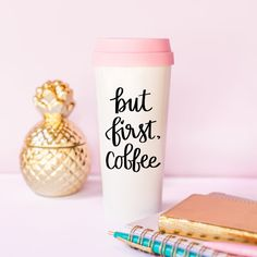Gold Foil Chic Girl Boss Lady Travel Mug cup Office Gift Eyelashes Lashes Coffee Gift for Her Mugs Drinkware Pink But First Coffee Blush Thermal Acylic Tumbler Coffee Gifts, Coffee Mugs, Cute Gifts, Diy Gifts, Pink Office Decor, Wine Decor, But First Coffee, Coffee Travel, Travel Mugs