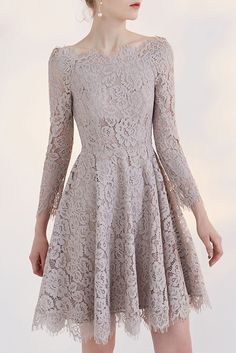 Shop low price charming full lace a-line off the shoulder party dress with 3/4 sleeve online. Custom-made any size or color. Pro since 2009.