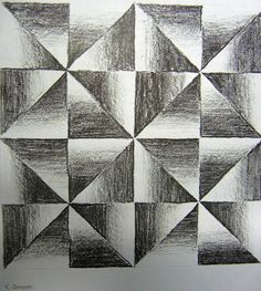 Tonal shading exercise for Year 5 students. Also involved measurement and patterning.http://4-5classnews.blogspot.com.au/p/art.html