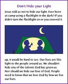 Don't Hide your Light (Sermon on the Mount) - Kids Korner - BibleWise