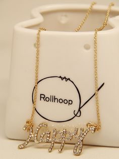 Diamante Happy Letter Necklace   http://www.choies.com?cid=6309michelle
