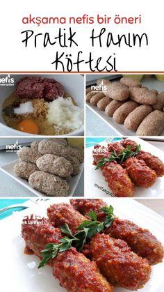 Pratik Hanım Köftesi Tarifi nasıl yapılır? 2.162 kişinin defterindeki Pratik Hanım Köftesi Tarifi'nin resimli anlatımı ve deneyenlerin fotoğrafları burada. Yazar: Mutfak Gülü Meatball Recipes, Tandoori Chicken, Chicken Wings, Ham, Main Dishes, Food And Drink, Tasty, Ethnic Recipes, Foods