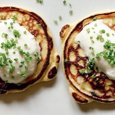 Stunning smoked salmon and chive potato pancakes from The Good Cook book. The recipe calls for the delicious accompaniment of peppery horseradish cream.