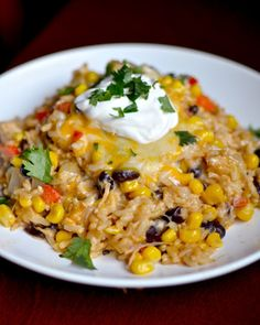 Cheesy Chipotle Chicken and Rice... I want this right now