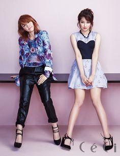 4Minute - Ceci Magazine April Issue '14 #4minute #ji yoon #ji hyun