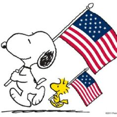 Patriotic Snoopy and Woodstock.Veterans Day is coming. Let's remember who our true heroes are!