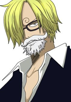 Vinsmoke Sanji (with beard and glasses) Sanji One Piece, One Piece Manga, Sanji Vinsmoke, One Peace, Crocodile, Swan, My Hero, 2d, Otaku