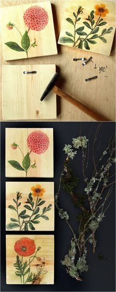 DIY Wall Art & How to Transfer Image to Wood - DIY Wall Art & How to Transfer Image to Wood Detailed tutorial on how to transfer image to wood easily and make beautiful, one-of-a-kind printed wood wall art, home decor or gifts! – A Piece Of Rainbow Crafts To Make And Sell, New Crafts, Diy Home Crafts, Arts And Crafts, Diy Wood Projects, Diy Projects To Try, Wood Crafts, Paper Crafts, Diy Wood Wall