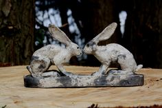 two hares by Joe lawrence art work, via Flickr