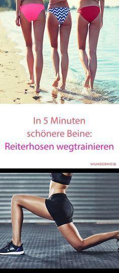 Gegen Reiterhosen hilft nur Sport - doch mit dieser 5 Minuten Übung ist es nur halb so schwer. #fitness #abnehmen