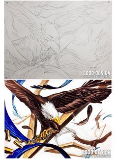 독수리 새 앵무새 Bald Eagle, Bird, Drawings, Animals, Design, Animales, Animaux, Birds, Sketches