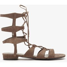 Forever 21 Faux Suede Gladiator Sandals (37 CAD) ❤ liked on Polyvore featuring shoes, sandals, grey, forever 21 sandals, gray sandals, gladiator sandals flats, grey flats and gray flats