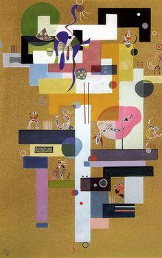 Wassily Kandinsky - Contrasts, 1937 at The Kreeger Art Museum Washington DC