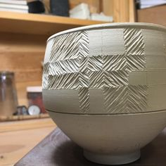 "207 Likes, 1 Comments - Alex Thullen (@alexthullen) on Instagram: ""#WIP #scratchnstamp #textureblocking #porcelain #pattern #texture"""
