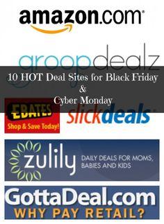 10 HOT Black Friday & Cyber Monday Deal Sites via @Sarah Roe