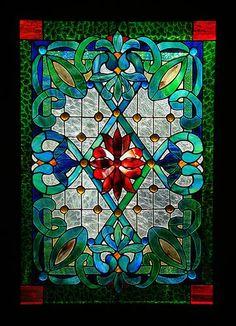 LEADLIGHT VICTORIAN HERITAGE STAINED GLASS FRONT DOOR/ WINDOW Hand Crafted AUSTRALIAN CUSTOM BUILT WINDOWS, ENTRACEWAYS & SKYLIGHTS by LORRAINE BREEN $1899.00