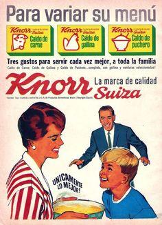 KNORR SUIZA. Publicidad argentina, década del 60.