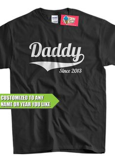 Daddy Since ANY YEAR Dad To Be Gifts For Dad Christmas Gift