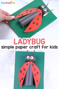 How to Make a Paper Ladybug Craft for Kids. Do you want to learn about a new craft today? Learn How to Make a Paper Ladybug Craft in minutes. This also makes great learning room decor. Paper Crafts For Kids, New Crafts, Easy Crafts, Ladybug Crafts, Spring Crafts For Kids, Baby Art, Flower Crafts, Easy Peasy, Activities For Kids