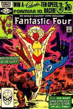 Fantastic Four 1982 Frankie Raye John Byrne Marvel Comics c Comic Book Covers, Comic Books Art, Book Art, Comic Art, Fantastic Four Comics, John Byrne, Marvel Drawings, Human Torch, Marvel Series