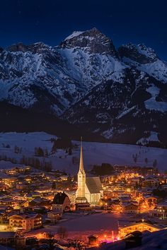The village of Maria Alm (AT) & it's Church, Austria