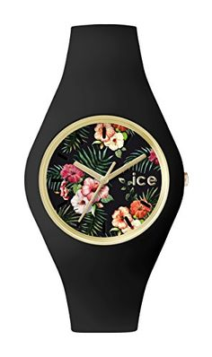 ICE-Watch - ICE.FL.COL.U.S.15 - Ice Flower - Colonial - Montre Femme - Quartz Analogique - Cadran Noir - Bracelet Silicone Noir ICE-Watch http://www.amazon.fr/dp/B00VMB68JS/ref=cm_sw_r_pi_dp_0LrZvb0NBRGF7