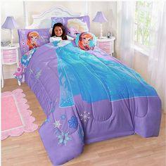 Disney Frozen Me Full Comforter, Sham, Sheet Set, Decorative Pillow and BONUS Glitter Stickers! (9 Piece Bundle) Genuine Licensed
