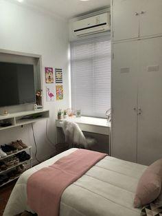 small bedroom ideas loft bed - New Bedroom İdeas Tiny Bedroom Design, Small Room Design, Home Room Design, Room Ideas Bedroom, Small Room Bedroom, Bedroom Decor, Dorm Room, Small Bedroom Interior, Bedroom Girls