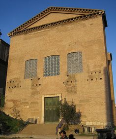 The Curia (Senate), Roman Forum.  once housed in Marble, the meeting spot for the elected roman senate