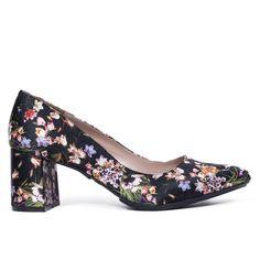 c1d5413c Zapato de salón tacón bajo mujer NEGRO FLORES – miMaO Spain Online – miMaO  ShopOnline Comprar