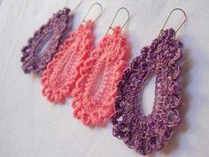 Crochet Teardrop Earrings: free pattern