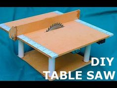 Woodworking Tools DIY Mini Table Saw : 10 Steps (with Pictures) - In this instructable I am going to make a mini powerful table saw out of a bunch of MDF sheets,a DC motor from an old viper mechanism of a car and some UPVC p. Woodworking Projects Diy, Diy Wood Projects, Woodworking Tools, Woodworking Machinery, Mini Serra Circular, Build Your Own Garage, Portable Table Saw, Build A Farmhouse Table, Best Circular Saw