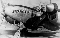 P-38 Lightning, 'Pudgy', 431st Fighter Squadron, 475th Fighter Group, 5th AAF. Pilot Thomas McGuire. Philippines 1944