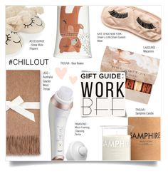 """""""GIFT GUIDE: WORK BFF"""" by larissa-takahassi ❤ liked on Polyvore featuring Donna Wilson, UGG, Kate Spade, Panasonic, Laboratory Perfumes, Accessorize and Ladurée"""