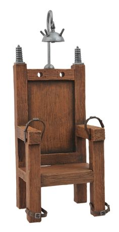 electric chair remind me of when ponyboy said that if you killed somebody you will have to sit in the electric chair.