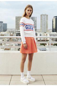 orange skirt #fashion @pixiemarket #pixiemarket