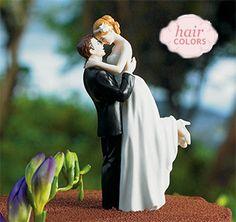 Custom-True-Romance-Hair-m.jpg Wedding Cake Figurines, Unique Wedding Cakes, Bride And Groom Cake Toppers, Cake Toppings, Wedding Topper, Fun Wedding Cake Toppers, Wedding Groom, Bride Groom, Wedding Couples