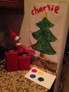elf on the shelf - little artist