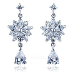 Jewelry - $35.59 - Shining Alloy With Cubic Zirconia Ladies' Earrings (011036686) http://jjshouse.com/Shining-Alloy-With-Cubic-Zirconia-Ladies-Earrings-011036686-g36686