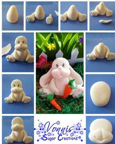 Fondant Easter Bunny!! Adorbs! By Vonnis Sugar Creations.