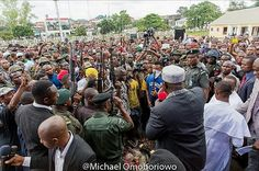 Latest news: Ex militants surrenders their weapons in Imo (photos). Repentant ex-militants were granted amnesty today in Imo state by the state governor Rochas Okorocha he did this after they surrendered their weapons to the state government and vowed never to return to their old ways.  The governor therefore received them at the Victory Chapel at the government house he then prayed for them & advised them to shun violence oil pipeline vandalism cultism & other criminal activities.  Visit…