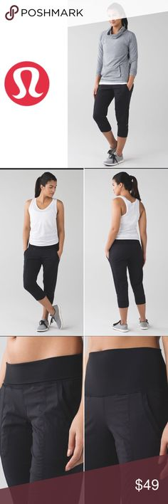 Lululemon In Flux Crop (First Release) Pre-owned in great condition, released in 2/15 retailed for $88. Woven for strength and no-bulk performance, lightweight Swift fabric is two-way stretch and sweat-wicking to move with you and stay out of your way two-way stretch lightweight woven for strength Luon® Cottony-soft Luon® waistband is four-way stretch and sweat-wicking sweat-wicking four-way stretch cottony-soft handfeel quick recovery naturally breathable lululemon athletica Pants Ankle…
