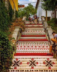 Mures Rakoczi stairs- Hurghis Vasile #Mures #flower #city #beautiful #Romania #Europe
